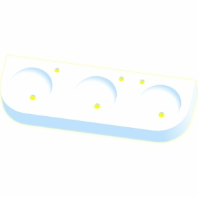 Kita-Reihenwaschtisch RAUPE-3-WEISS