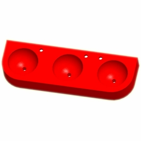 Kita-Reihenwaschtisch RAUPE -3-ROT