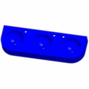 Kita-Reihenwaschtisch RAUPE -3-BLAU