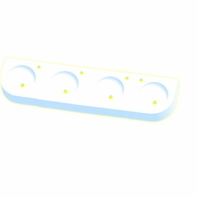 Kita-Reihenwaschtisch RAUPE -4-WEISS