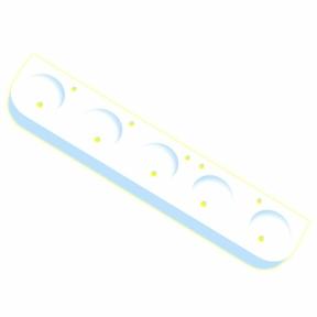 Kita-Reihenwaschtisch RAUPE -5-WEISS