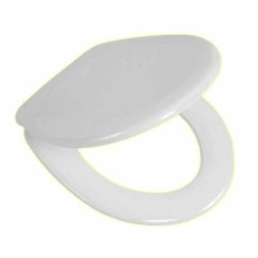 WC-Sitz mit Deckel, Duroplast, Farbe Weiß