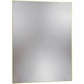 Spiegel 500x400-V, hochglanzpoliert, mit verdeckter Befestigung