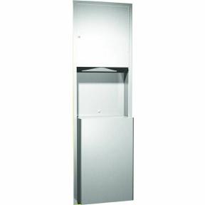 Papierhandtuchspender-Abfallbehälter-Kombi-TRADI-800-46-UP