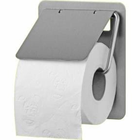 Toilettenpapierrollenhalter MALUS, für 1 Standard Toilettenpapierrolle, aus Edelstahl