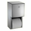 Doppel-WC-Papierrollenhalter-PROFI-UP Unterputzmontage