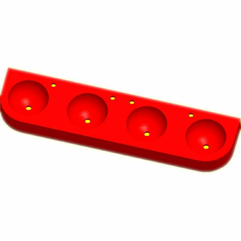 Kita-Reihenwaschtisch RAUPE -4-ROT