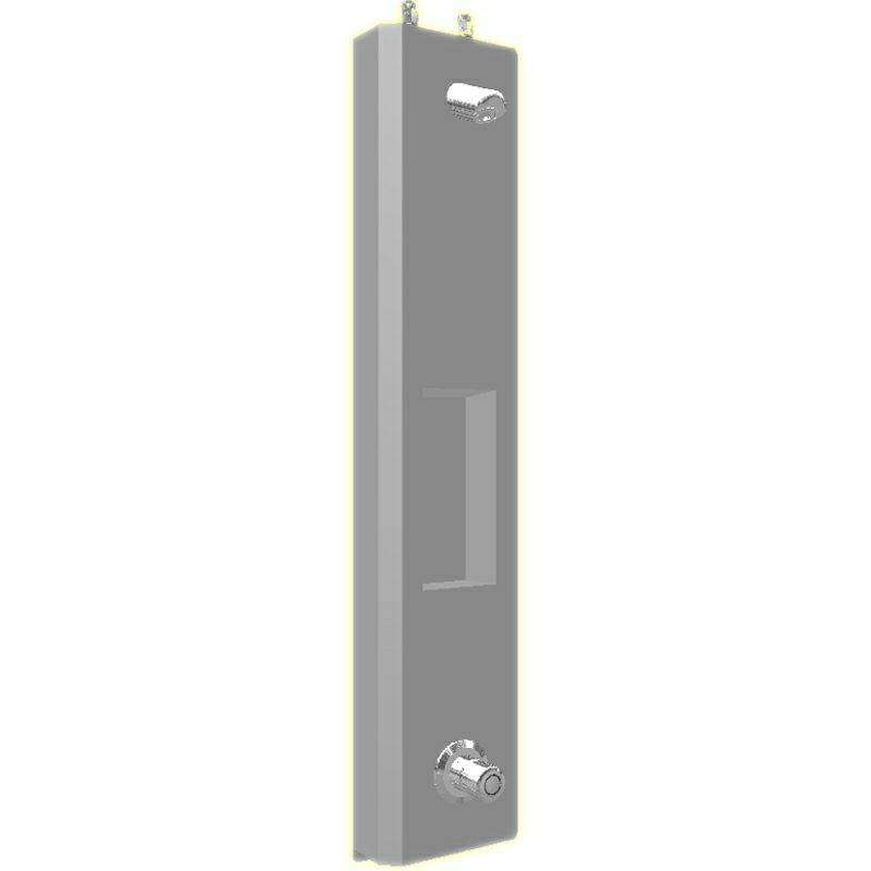 SaniSystem Duschelment Tradi Stainless Steel HoVent-DE-O