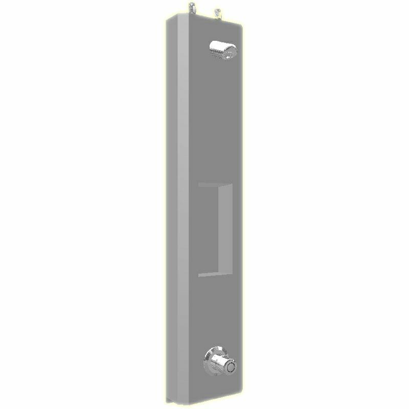 SaniSystem Duschelment Tradi Stainless Steel HoMix-DE-S-H