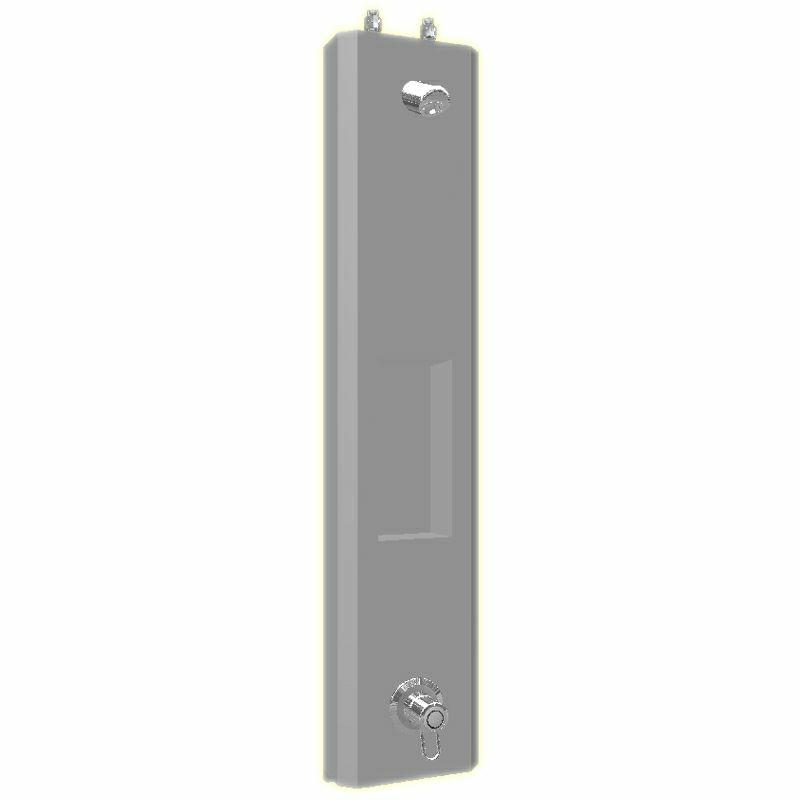 SaniSystem Duschelment Tradi Stainless Steel HoKera-DE-S-H