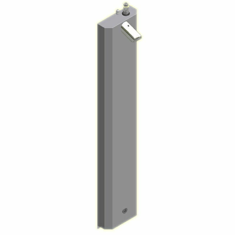 SaniSystem Duschelment Tradi Stainless Steel HoPi-DE-S-H