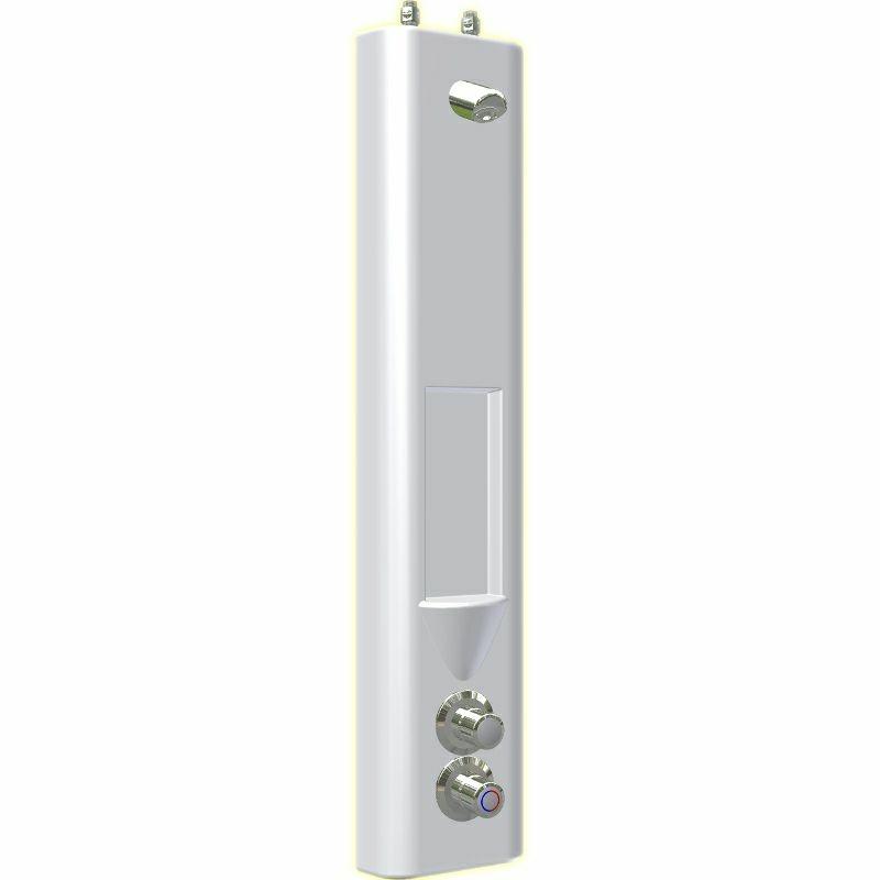 SaniSystem Duschelment Tradi White HoVent-Thermix-DEK-S-O