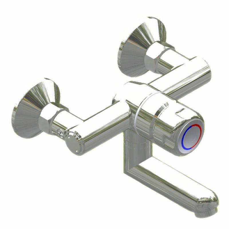 SaniSystem Wand-Selbstschlussmischer Tradi HoMix-W150-AP-125